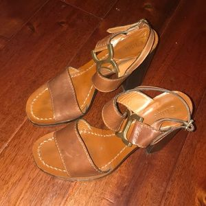 Chloé heeled sandals brown leather